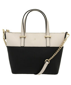 Ss16 New Designs Black/Beige PU Tote Bag Handbag for Women pictures & photos