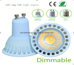 Ce and Rhos Dimmable GU10 3W COB LED Bulb pictures & photos