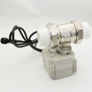 2-Way Brass Nickel Plated Electric Ball Control PP-R with Actuator Motorized Valve pictures & photos