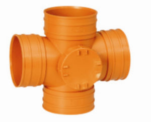PVC Drainage Pipe Fittings Cross with Left Port (C33) pictures & photos