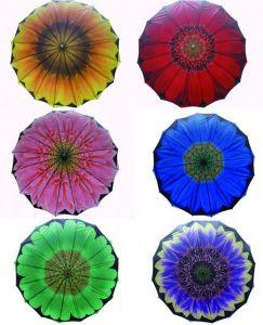 Big Flower Design Double Layers Umbrella (SU025-4) pictures & photos