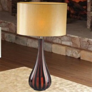 Vintage Hotel Decorative Brown Stripe Glass Bedside Table Lamp pictures & photos