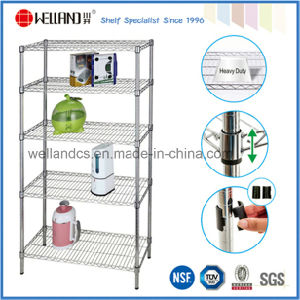 New Promotion Commercial Adjustable Anti-Bacterial Coating Metal Wire Shelving pictures & photos