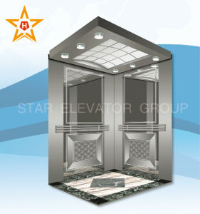 Elevator with Mirror Etching Decoration Xr-P04 pictures & photos
