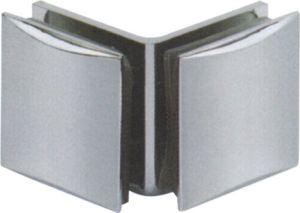 Zinc Alloy Arc-Shaped Double Sides Glass Partition Clip (CR-G10) pictures & photos