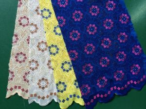 Hot Sell African Swiss Voile Lace Fabric with Many Stones pictures & photos