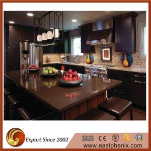 Competitive Price Brown Quartz Stone Kitchen Countertop pictures & photos