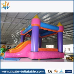 2016 Colorful Inflatable Bouncy House, Bouncer with Slide for Fun