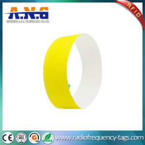 Easy Wear Disposable Tyvek RFID Wristbands for Events pictures & photos