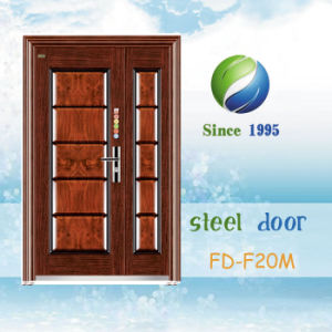 China Newest Develop and Design Single Steel Security Door (FD-F20M) pictures & photos
