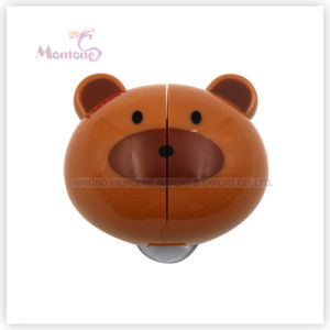 5.8*5.2*3cm Bathroom Accessories Bear-Shaped Wall Mount Toothbrush Holder with Suckers pictures & photos