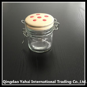 100ml Glass Storage Jar with Ceramic Lid pictures & photos