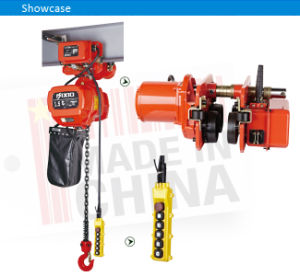 1.5 Ton Gear Motor Electric Chain Hoist with Hook pictures & photos