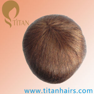 Super Fine Thin Skin 100% Virgin Human Hair Toupee for Men pictures & photos