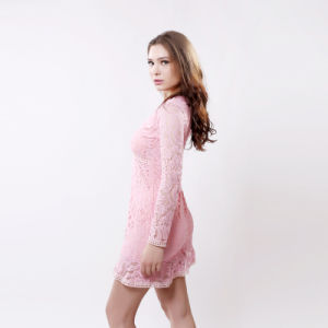Long Sleeve Lace Dress Elegant Ladies Casual Hollow out Autumn Dress pictures & photos