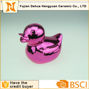Plating Ceramic Duck Money Bank pictures & photos