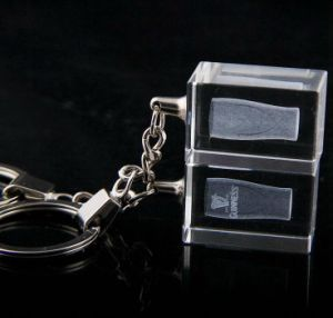 Promotion Gift Keyring Square Crystal Keychain pictures & photos