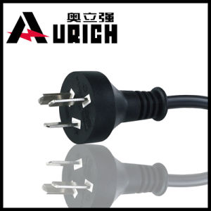 Power Cord Argentina Power Cord Iram Power Cord 16A 250V with Cable H05VV-F 3G1.0mm2 pictures & photos
