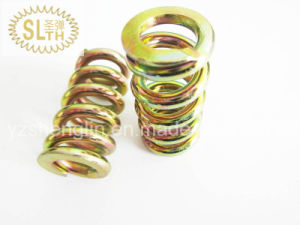 Colored Zinc Plating Compression Spring with High Quality pictures & photos