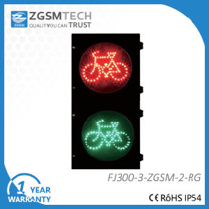 300mm 12 Inch Red Green LED Traffic Signs Bicycle