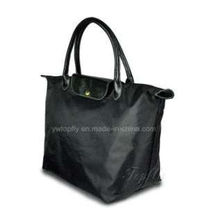 High Quality Eco-Friendly Tote Bag with PU Leather Handle pictures & photos