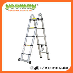 En131 TUV Aluminium Ladder At0214A/Telecopic Ladder/Telescope