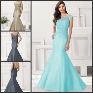 New Mother Party Prom Formal Gown Blue Grey Mermaid Evening Dresses B1516 pictures & photos