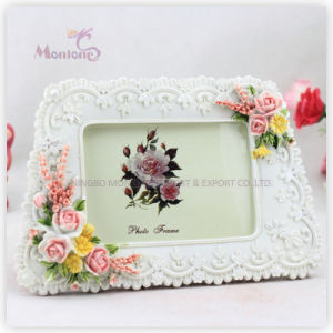 "Promotion Gift White Funia Love Resin Picture Photo Frame (4""X6"") pictures & photos"