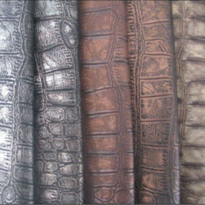 Embossed Vinyl Leather Mg49 pictures & photos