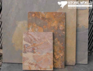 High Quality External Rusty Slate Flooring Tiles for Wall Ledgestone pictures & photos