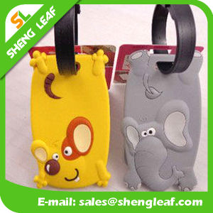 Custom Made Logo PVC Rubber Luggage Tag (SLF-LT032) pictures & photos