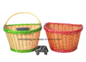 Wicker Storage Bicycle Baskets for Bike (HBK-123) pictures & photos