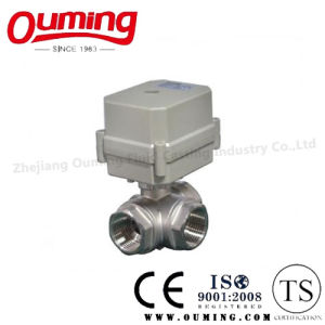 Stainless Steel Three-Way Electric Ball Valve pictures & photos