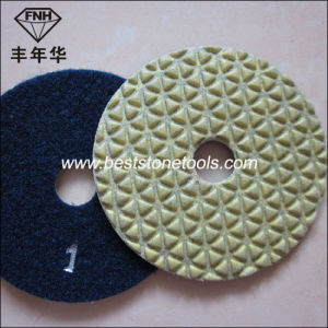 5 Step Angle Grinder Dry Flexible Stone Diamond Polishing Pad pictures & photos