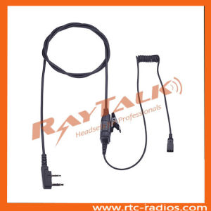 Two Wire Interchangeable Earpiece with Lapel Ptt for Kenwood 2 Pin Radios Tk208/Tk220/Tk3204 pictures & photos