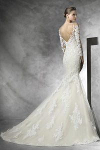 3/4 Sleeves Bridal Formal Gowns Mermaid Lace Wedding Dress A201793 pictures & photos