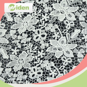 125cm High Quality Fancy Flower Design African Fabric Lace pictures & photos