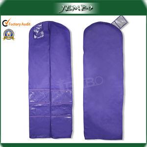 Purple Resuable Non Woven Zipper Wedding Dress Cover Bag pictures & photos