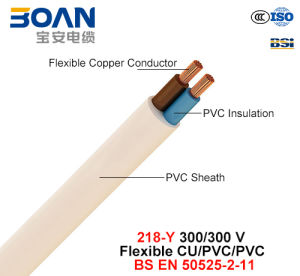 218-Y, Electric Wire, 300/300 V, Flexible Cu/PVC/PVC (BS EN 50525-2-11) pictures & photos
