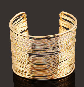 Fashion Open Alloy Gold Bangle Bracelet Jewellry Jewelry pictures & photos
