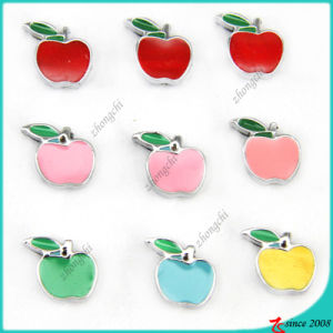 Enamel Apple Slider Charms for DIY Jewelry (SC16040950)
