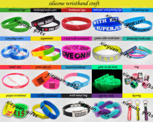 Can Custom Logo Printing Promotional Silicone Bracelet pictures & photos