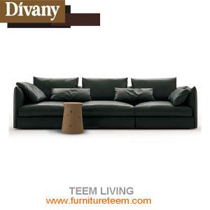 D-74 Divany Modern Furniture Black Leather Sofa pictures & photos