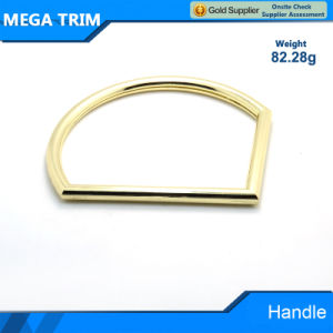 1/4 Round Shape Ling Gold Metal Handle pictures & photos