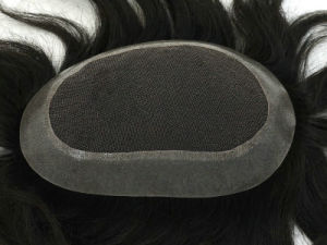 High Recommend Human Hair Men′s Toupee pictures & photos