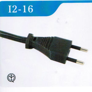 Italy Standard 2-Pin Power Cable with Plug (I2-16) pictures & photos