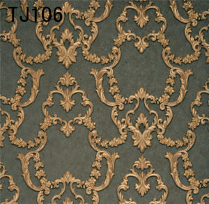 Italy Design Deep Embossed Vinyl Wallpaper (TJ106) 450g/Sqm pictures & photos