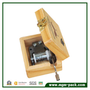 Customized Printing Wooden Music Box with Metal Movement pictures & photos