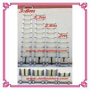 Loft Extension Ladder Aluminum Telescopic Step Ladder 2m/2.6m/3.2m/3.8m pictures & photos