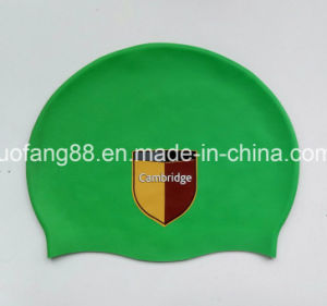 Quality Silicon Swimming Caps with Logo Print pictures & photos